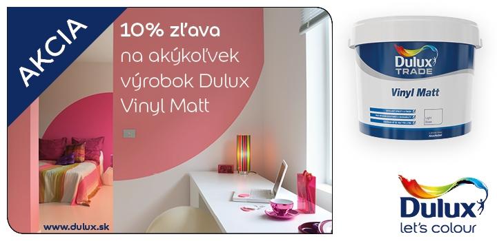 Akcia Dulux Vinyl Matt -10% iba u Vášho predajcu farieb DULUX