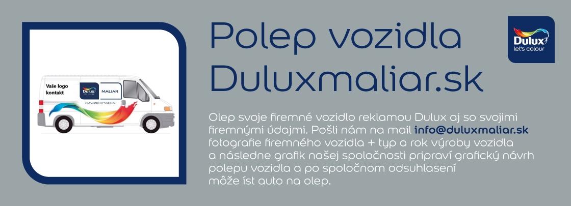 Zviditeľnite sa Dulux polepom Vášho vozidla